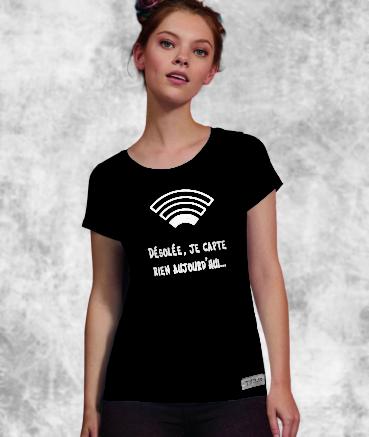 """T-shirt femme """"Wifi by T73"""""""