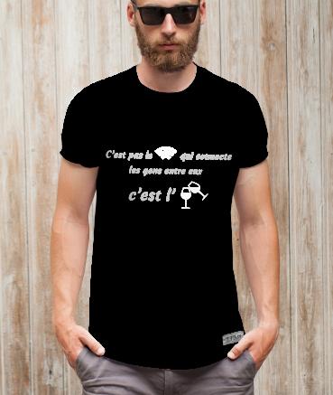 """T-shirt homme """"Apéro vs..."""
