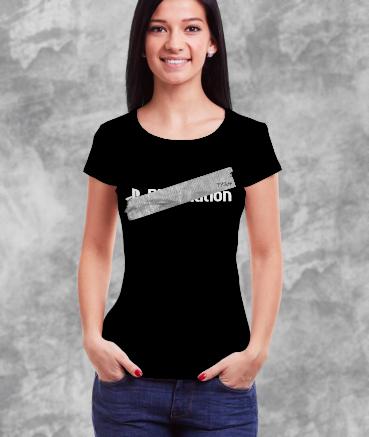 "T-shirt femme ""Playstat**n..."