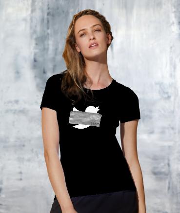 "T-shirt femme ""Tw*tter by T73"""