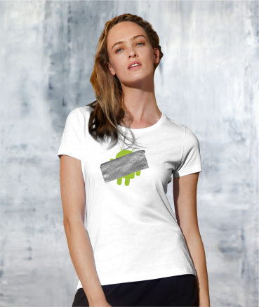 "T-shirt femme ""Andr*id by T73"""