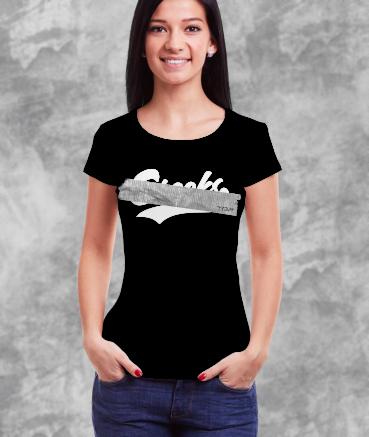 "T-shirt femme ""Cr**ks by T73"""